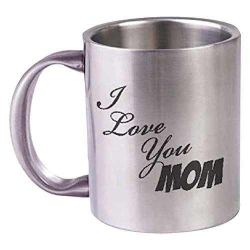 Hot MuggsI Love You Mom Stainless Steel Mug 350ml