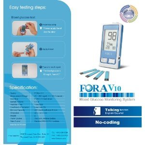 Fora-V10-Voice-Blood-Glucose-Monitor-to-use-with-V10-Test-Strip