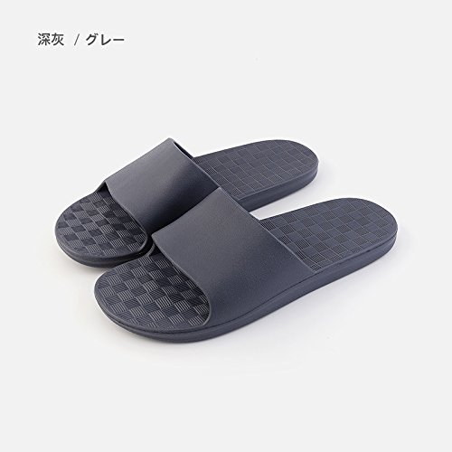 Cool 41 Room Anti Slippers B L Living Stay Slippers Bath Bath Men 42 Your Summer Gray Dark Series Home Female Slip Couple of fankou IfPHYY
