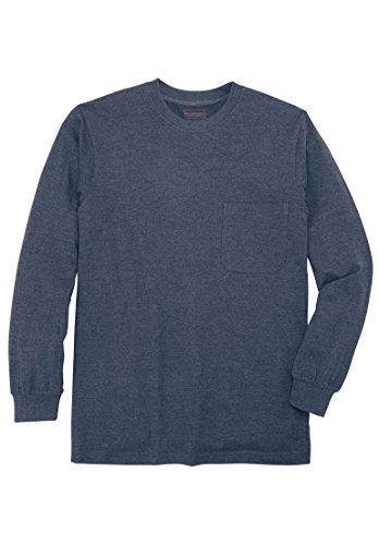 Boulder Creek Men's Big & Tall Heavyweight Long-Sleeve Pocket Crewneck Tee, (Long Pocket Sleeve T-shirt)