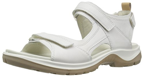 ECCO Women's Yucatan outdoor offroad hiking sandal, white/powder, 11 M US