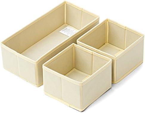 EZOWare Caja de Almacenaje con 3 pcs, Caja Multiuso, Caja de Tela ...
