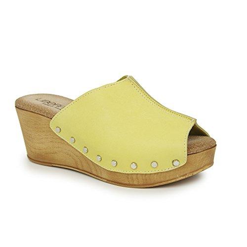 Kolnoo - Cerrado Mujer , color Amarillo, talla EU41