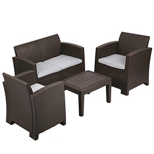 5 Pc Outdoor Patio Sofa Set Sectional Garden Furniture