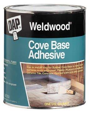 Dap 25053 Cove Base Adh Qt Raw Building Material, 1 Quart, White