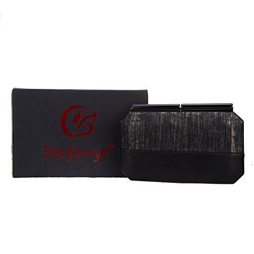 Bonjanvye For Evening Women Bags Stitching Clutches Snake Purses Pattern Clutch Black And rqxwOBr6p