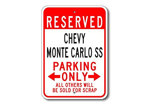 SS Parking Sign, Monte Carlo SS Sign, Chevy Monte Carlo SS, Monte Carlo Ss Sign, Chevy, Chevrolet, Metal Chevy Parking Sign ()