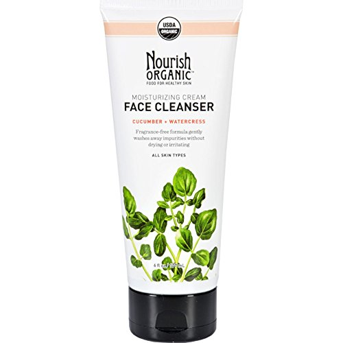 - 2 Packs of Nourish Organic Face Cleanser - Moisturizing Cream Cucumber And Watercress - 6 Oz