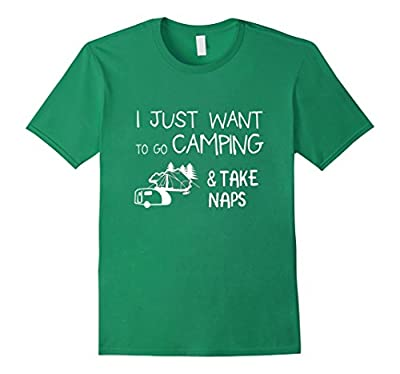 Funny Camping / Camper T-shirt about Taking Naps