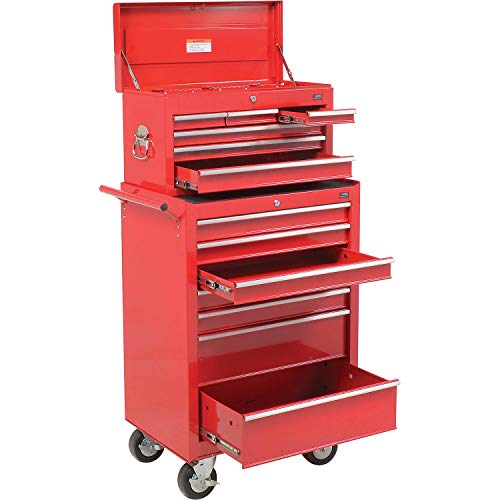 7-Drawer Roller Tool Cabinet W/Ball Bearing Slides & Top Tool Chest combo, 26-5/8