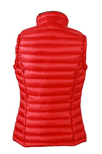 James & Nicholson Ladies - Chaleco acolchado de mujer (relleno de plumas) rojo - rojo, negro