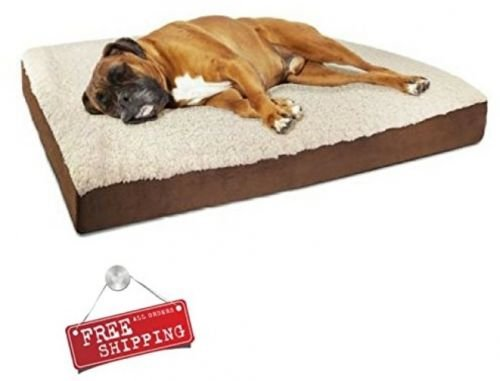 Dog Pillow Orthopedic Bed Pet Extra Large Plush Foam Soft Comfortable Washable & E book By Easy2Find