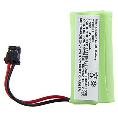 2.4V 2 AAA 800mAh Ni-MH Cordless Home Phone Battery for Uniden BT1008 BT-1008 BT1016 BT-1016 BT1021 BT-1021 WITH43-269 WX12077 Sanyo CAS-D6325 CASD6325 Lenmar CBBT1008 CB-BT1008 (Pack of 1)
