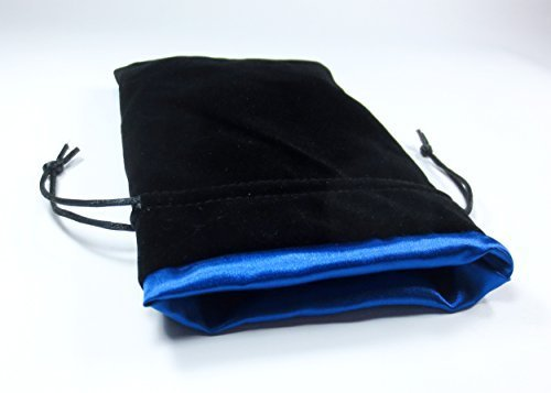 Premium Velvet 15 Blue Sets Black Ice Lining Bag Blue with Bag Dice DnD by Pound of Satin Dice Capacity 1 is Dice 5x8 Dice Dice 100 Strong Iqwaq