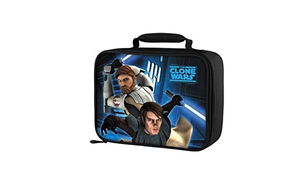 82d50c128f Amazon.com  Star Wars Clone Wars Soft Insulated Lunch Box By Thermos   Childrens Lunch Boxes  Kitchen   Dining