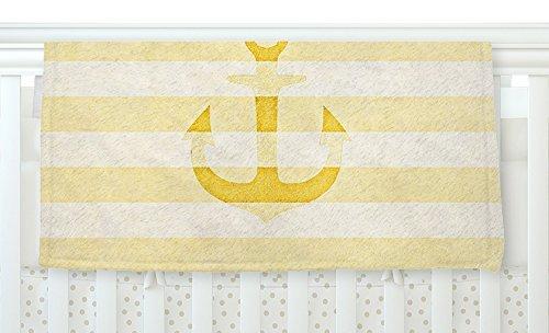 KESS InHouse Monika Strigel Stone Vintage Anchor Yellow Mustard White Fleece Baby Blanket 40 x 30 [並行輸入品]   B077Z4DBLP