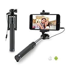 Selfie Stick, High end Extendable [Battery Free] Wired Selfie Stick for iPhone SE/6S/6S Plus/6/6 Plus/5S/ GalaxyS7/ Galaxy S7 Edge/ Nexus 6p/ LG G5 and More - [DAGO-Mart Quality Guarantee]