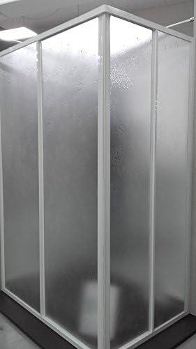 Mampara de ducha Acrílico 3 mm con apertura corredera, 68/80 x 68/80 cm, Altura 185 cm: Amazon.es: Hogar
