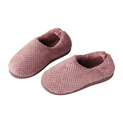 Roomy Extra Foam Women's BUYITNOW Feet Comfort amp; Coral Slippers Relief Purple Wide Memory Light Shoes Swollen Foot Diabetic for Fleece wn00dBXx