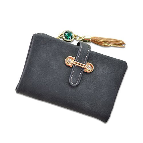YEX Women Wallets PU Leather Suede Clutch Purse Card Holder with Coin Pocket Bifold Wallet (Leather Suede Wallet)