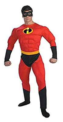 Disguise Unisex - Adult Deluxe Muscle Mr Incredible Costume