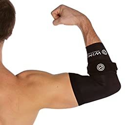 1 Tennis Elbow Brace & 1 Copper Infused Compression Elbow Sleeve - Pain Relief for Tennis & Golfer\'s Elbow - Best Forearm Brace with Gel Pad & Elbow Support - Large