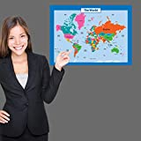 World Map for Kids - Laminated - Wall Chart Map of