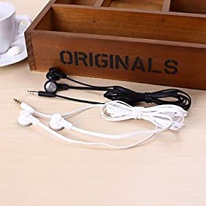 Y1 Flat Cable Style In-Ear Stereo Music Earphone for iPod/iPad/iPhone/MP3/PC , Black