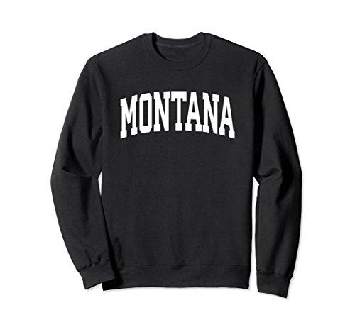 Unisex Montana Crewneck Sweatshirt Sports College Style State Gifts 2XL (Black Classic College Hoody Sweatshirt)