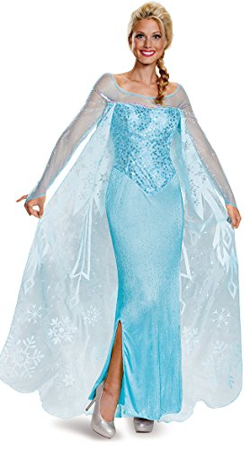Elsa Costumes Adult Small (Disguise Women's Elsa Prestige Adult Costume, Blue, Small)