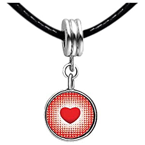 Chicforest Silver Plated Lovely Red Heart Photo Topaz Crystal November Birthstone Flower dangle Charm Beads Fits Pandora Bracelets