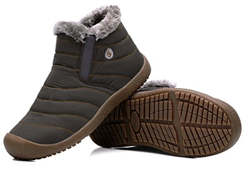 Men's Boots Snow Shoes Outdoor Waterproof Warm Boots Winter Lined Santimon Ankle Khaki Fur RYpBAfA