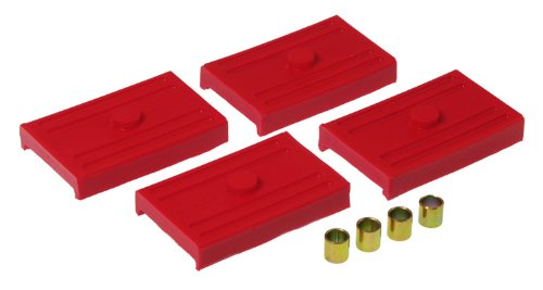 (Prothane 7-1708 Red Rear Upper and Lower Multi Leaf Spring Pad Kit )