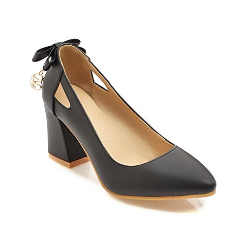 Chaussures Bouche Peu amp;S MEI Chaussures Noir Profonde Talon Bloc Femmes qOWx1a7