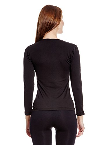 ANAISSA- Long sleeve fleece vest black Negro