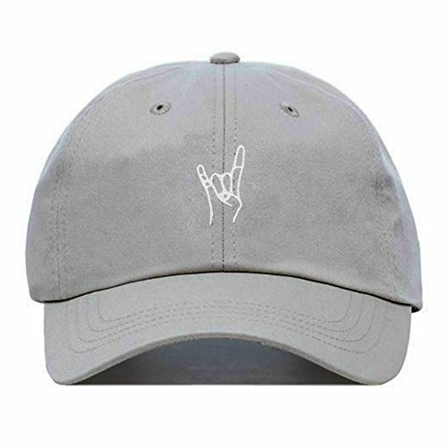 Rock On Dad Hat, Embroidered Baseball Cap, 100% Cotton, Unstructured Low Profile, Adjustable Strap Back, 6 Panel, One Size Fits Most (Multiple Colors) ()