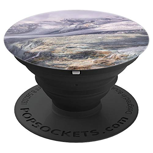 Landscape Mountains Glacier Alpine Valais - PopSockets Grip and Stand for Phones and Tablets ()