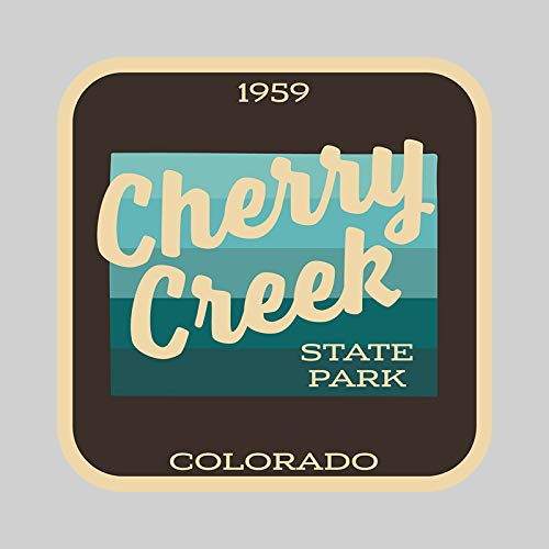 - JMM Industries Cherry Creek State Park Colorado Vinyl Decal Sticker Car Window Bumper 2-Pack 4-Inches by 4-Inches Premium Quality UV Protective Laminate SPS684