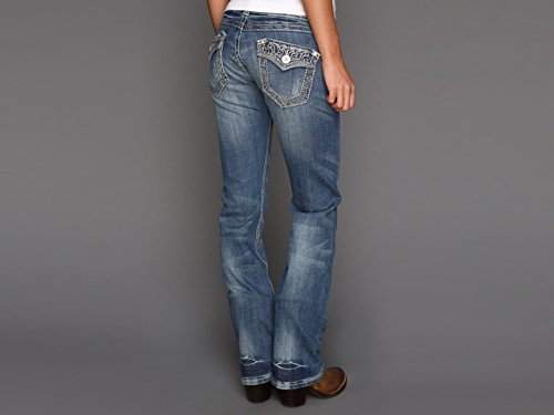 Stetson Women's 818 Rhinestone Bootcut Jeans Denim 12 S