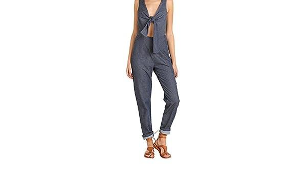 244675c994cd Amazon.com  Solid   Striped The Jumpsuit Indigo  Clothing