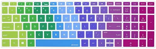 MOSISO Keyboard Cover CompatibleHP Envy x360 15.6 inch Series Blue&Pink
