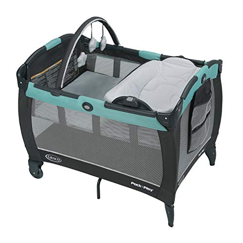 Graco Pack n Play Playard Reversible Napper Changer LX Bassinet, Tenley