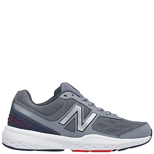New Balance Men's MX517v1 Training Shoe, Grey/Red, 8.5 D US