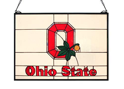 (Happy Living Time NCAA Ohio State Stained Glass Window Panels 16