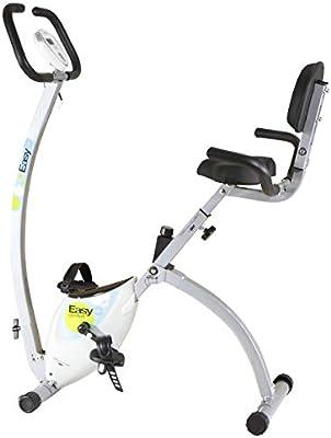 Tecnovita Easy C Bicicleta Plegable con Respaldo, Unisex, Blanco ...