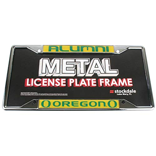 Stockdale Oregon Ducks Alumni Metal License Plate Frame W/domed ()
