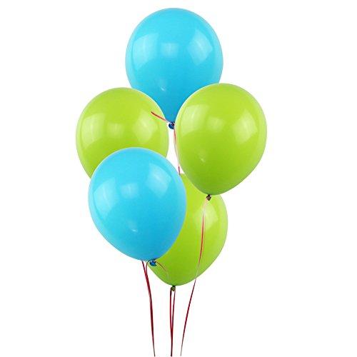 KUMEED Sky Blue Green Balloons 12