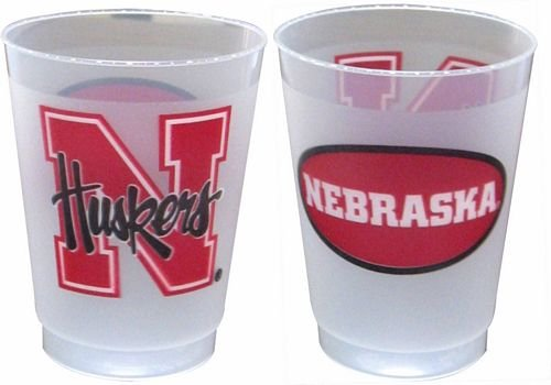 NCAA Nebraska Cornhuskers 10oz Plastic Frosted Cups Set of 25