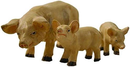 Miniatur Modell Zubeh/ör Hausschweine 3tlg handbemalen H/öhe 3cm geeignet f/ür 7-12cm Figuren