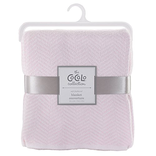 Voile Separates Herringbone Knitted Blanket Color: Petal - Blanket Baby Cocalo Pink